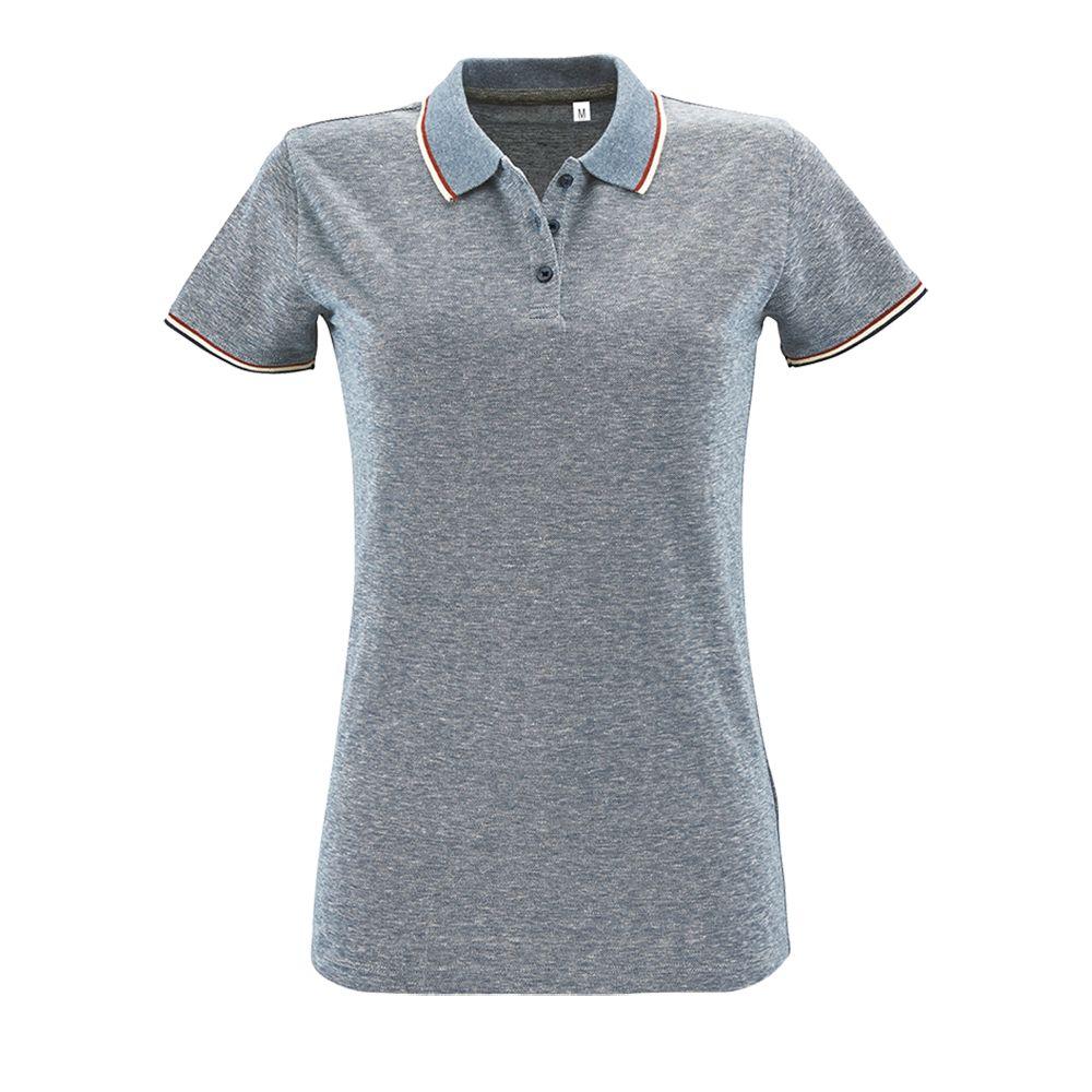 Рубашка поло женская PANAME WOMEN голубой меланж, размер XL фото