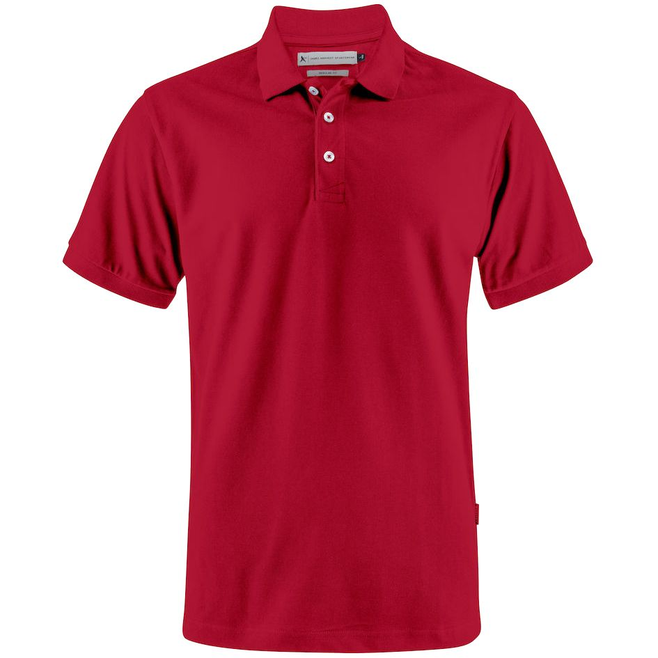Рубашка поло мужская Sunset красная, размер XXL