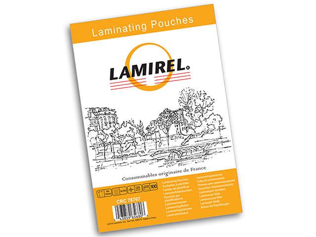 Фото - Пакетная пленка для ламинирования Lamirel A3, глянцевая, 125 мкм, 100 шт мешки для мусора лайма 120 л завязки синие в рулоне 10 шт пвд 35 мкм 67х90 см ±5%