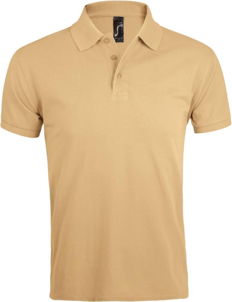 Рубашка поло мужская PRIME MEN 200 бежевая, размер 4XL рубашка поло мужская prime men 200 бежевая размер xl