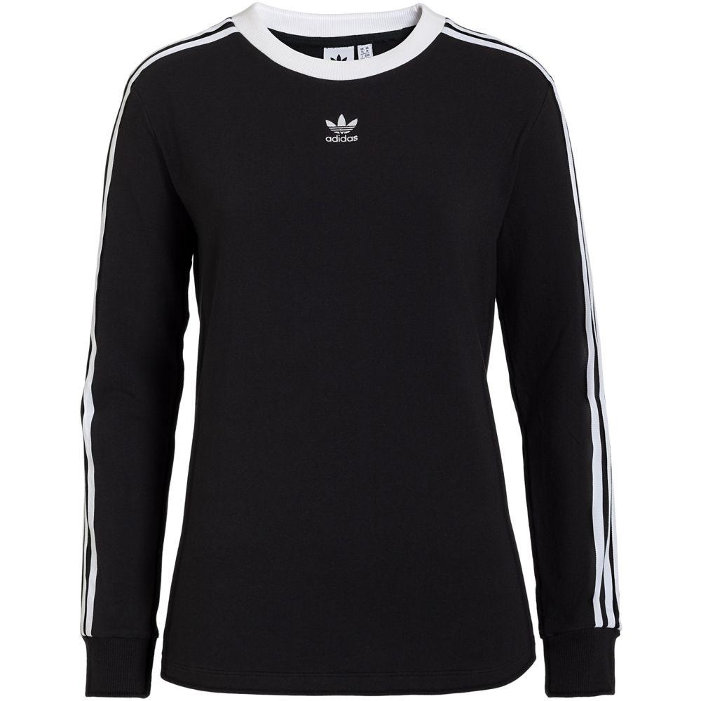 Футболка женская с длинным рукавом 3 Stripes LS, черная, размер XL