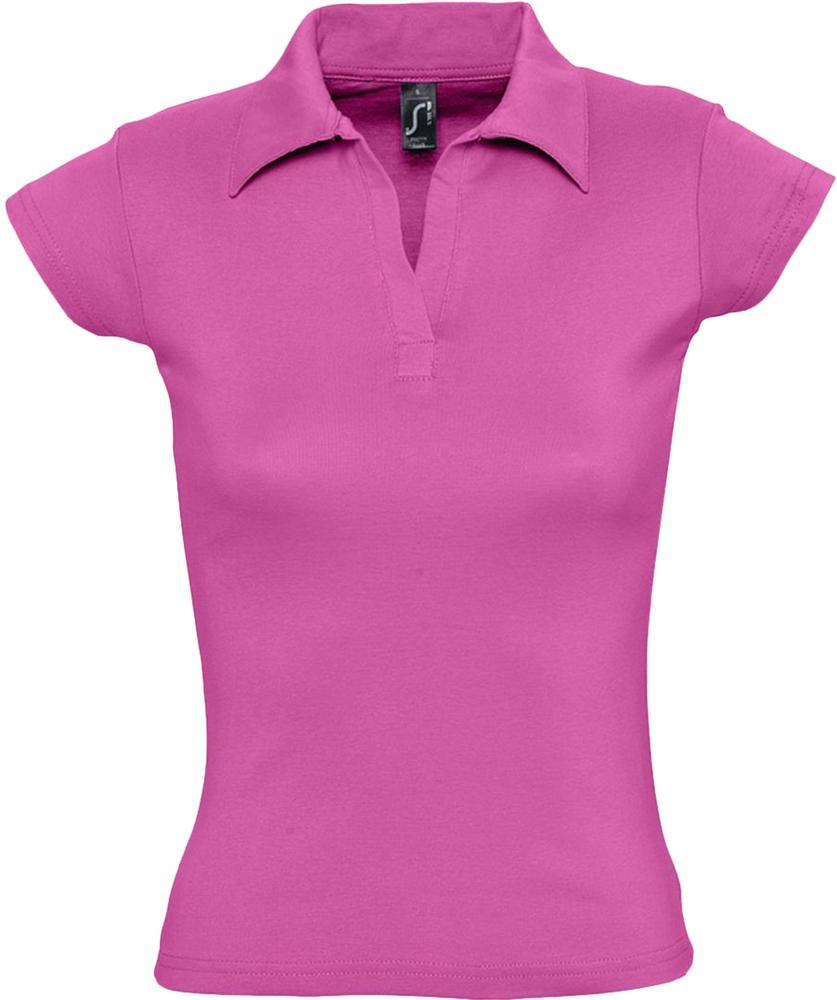 Рубашка поло женская без пуговиц PRETTY 220 ярко-розовая, размер S фото