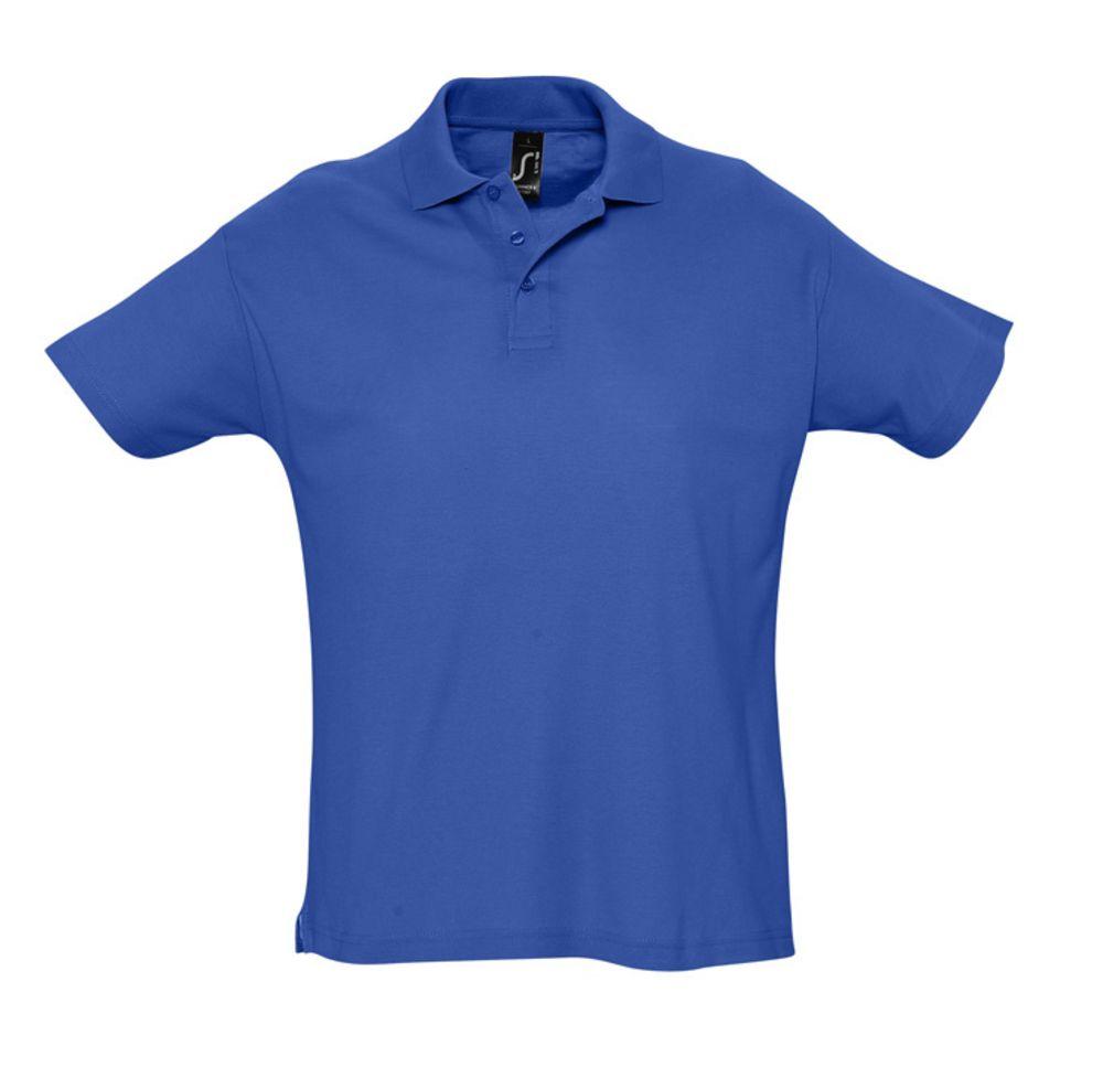 Рубашка поло мужская SUMMER 170 ярко-синяя (royal), размер M