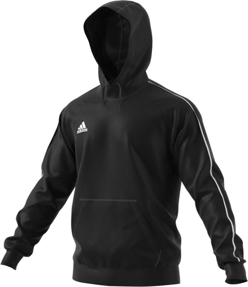 Толстовка с капюшоном Core 18 Hoody, черная, размер 3XL