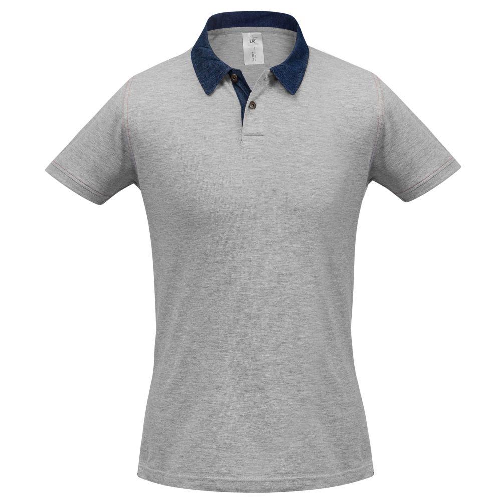 Рубашка поло мужская DNM Forward серый меланж, размер XXL рубашка поло женская dnm forward серый меланж размер m