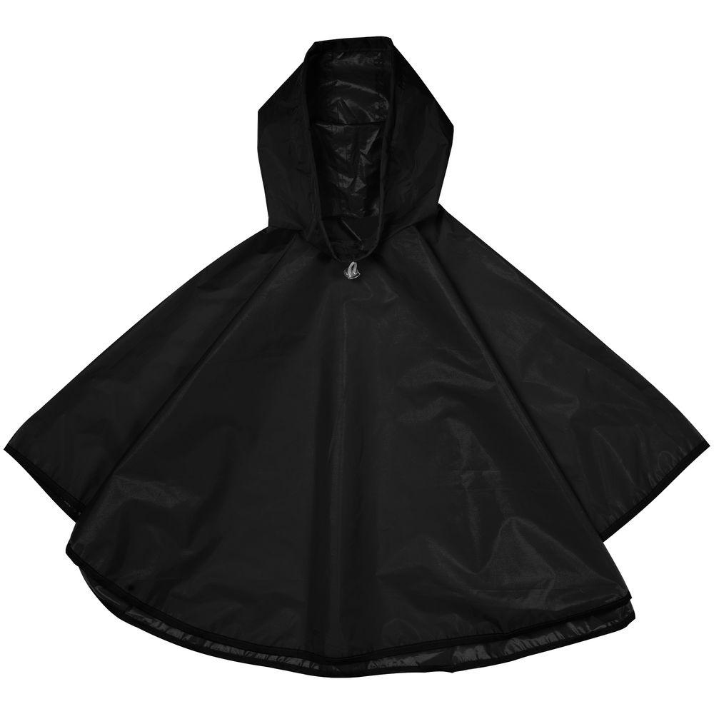 дождевик red fox poncho plus цвет серый 13985 размер универсальный Дождевик детский Rainman Poncho Kids черный, 8-12 лет