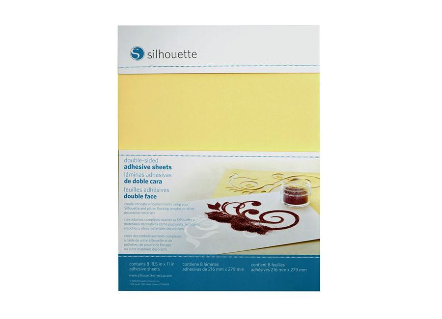 Фото - Двухсторонняя клеющаяся пленка (216x279 мм, 8 листов) для Silhouette CAMEO и Portrait нож с держателем для плоттера silhouette cameo silh blade auto