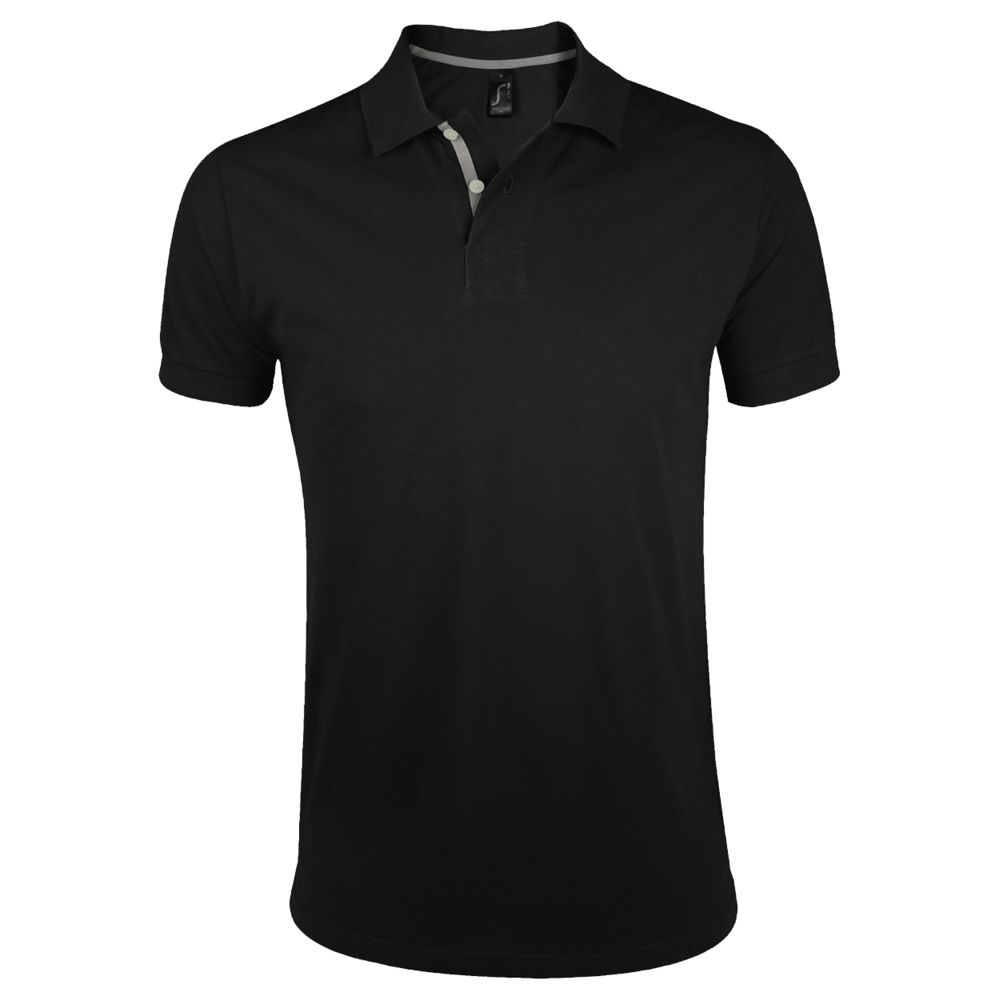 Рубашка поло мужская PORTLAND MEN 200 черная, размер M фото