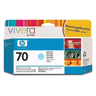 HP Vivera 70 Light Cyan 130 мл (C9390A) картридж струйный hp c9391ae n 88xl cyan with vivera ink