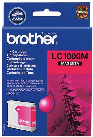 Фото - Картридж Brother LC1000M картридж brother lc3617y