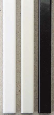 Металлические каналы O.Simple Channel А4 297 мм 20 мм, черные