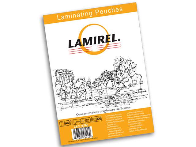 Фото - Пакетная пленка для ламинирования Lamirel A4, глянцевая, 175 мкм, 100 шт мешки для мусора лайма 120 л завязки синие в рулоне 10 шт пвд 35 мкм 67х90 см ±5%