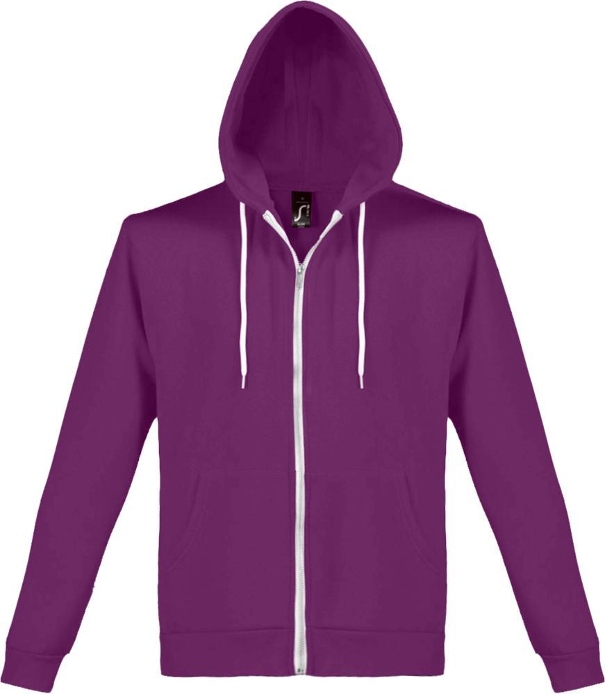 Толстовка на молнии SILVER 280 фиолетовая, размер XXL фото