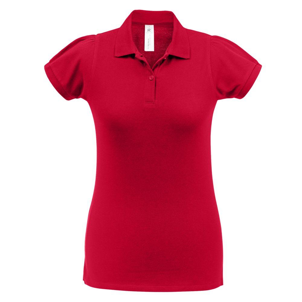 Рубашка поло женская Heavymill красная, размер S рубашка женская levi s® ultimate boyfriend цвет черный 5893700250 размер s 44