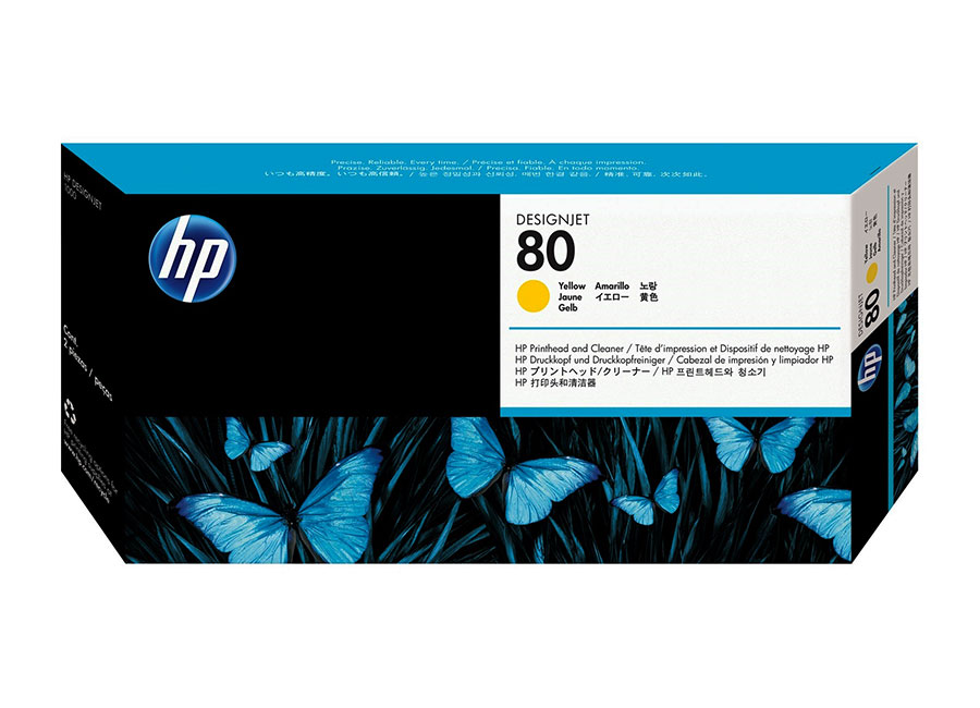 Печатающая головка HP Printhead №80 Yellow (C4823A) hot sales 80 printhead for hp80 print head hp for designjet 1000 1000plus 1050 1055 printer