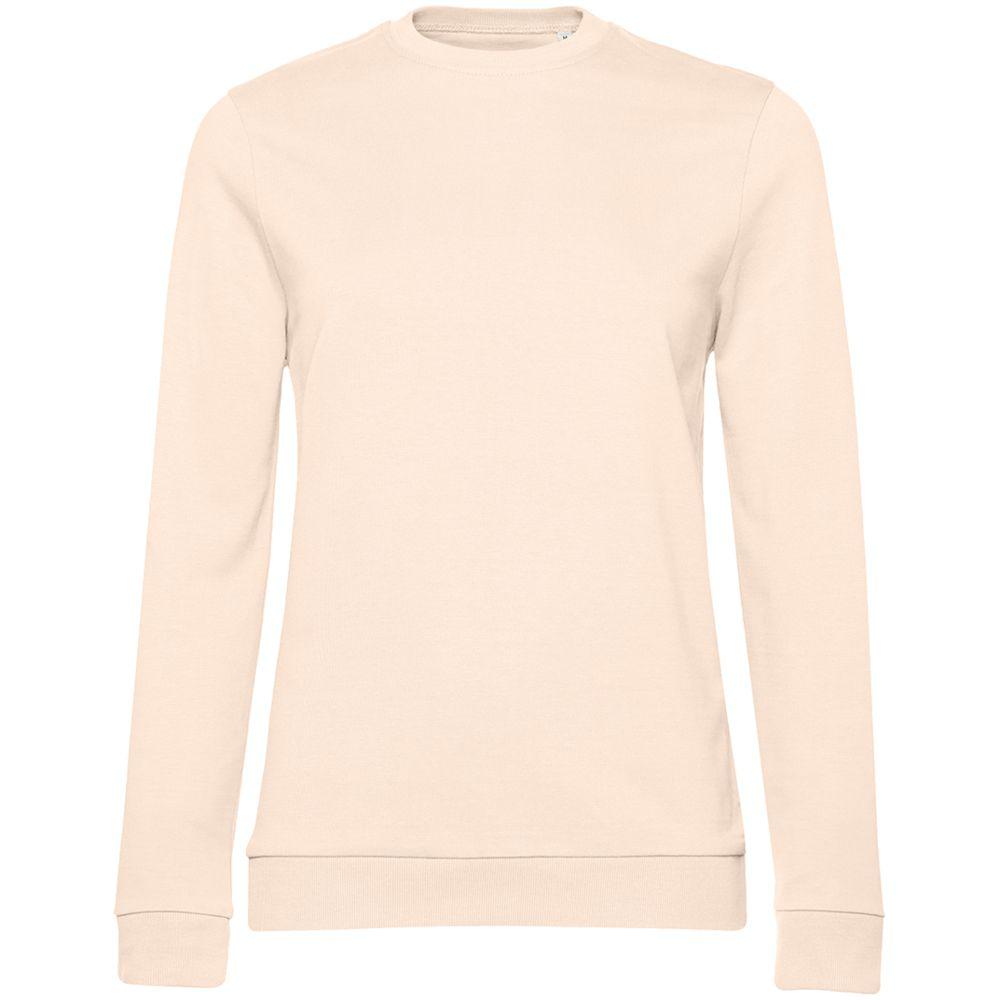 джемпер женский oodji collection цвет светло розовый светло серый 24801010 9 45284 4020f размер xxl 52 Свитшот женский Set In, светло-розовый, размер XL