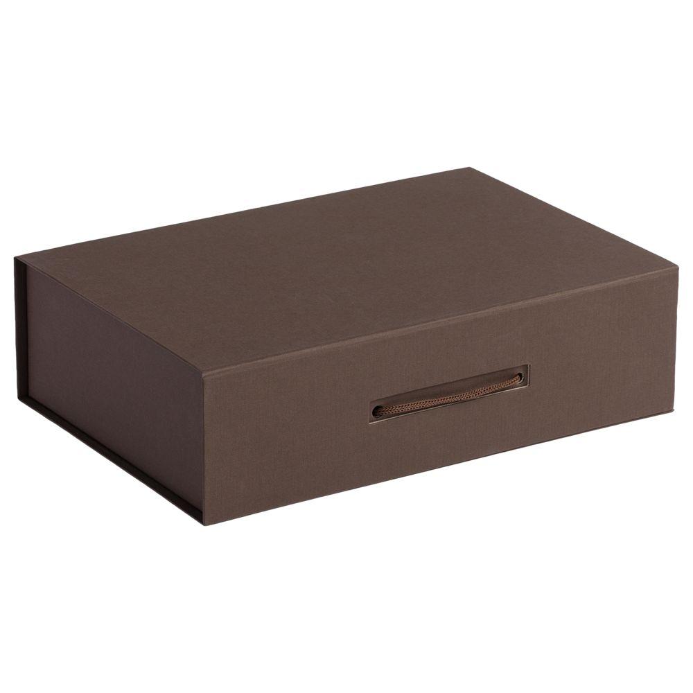 Коробка Case, подарочная, коричневая недорого