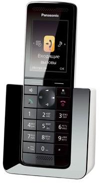 KX-PRS110RUW радиотелефон dect panasonic kx tg6811rub черный