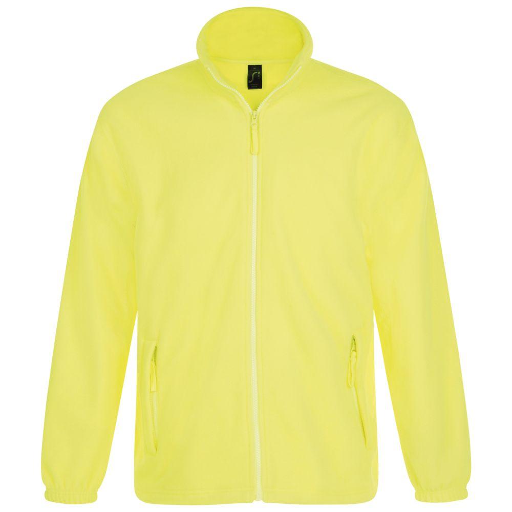 Куртка мужская North, желтый неон, размер S гибкий неон led желтый оболочка желтая бухта 50м