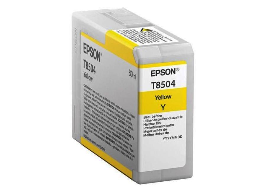 Epson T8504 Yellow 80 мл (C13T850400) epson t5804 yellow 80 мл c13t580400