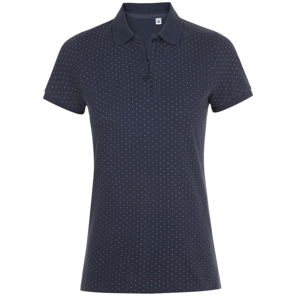 цена Рубашка поло женская BRANDY WOMEN темно-синий с белым, размер L онлайн в 2017 году