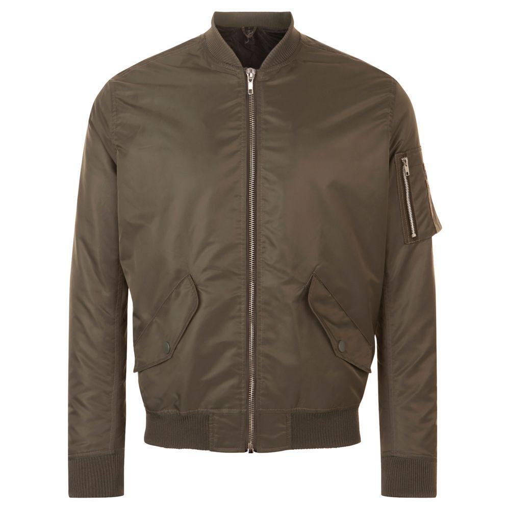 Куртка бомбер унисекс REBEL коричневая, размер XS rapport rebel cities