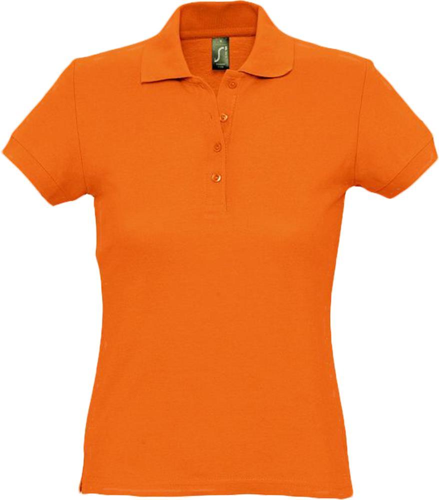цена Рубашка поло женская PASSION 170 оранжевая, размер XL онлайн в 2017 году