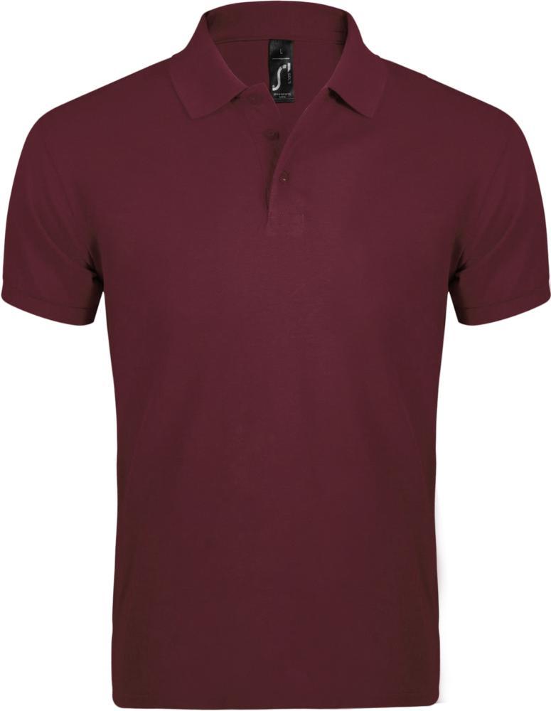 Рубашка поло мужская PRIME MEN 200 бордовая, размер XL рубашка поло мужская prime men 200 бежевая размер xl