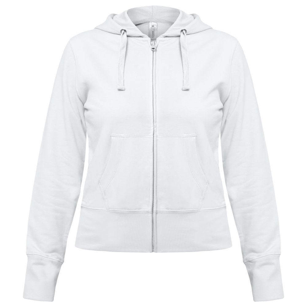 Толстовка женская Hooded Full Zip белая, размер S