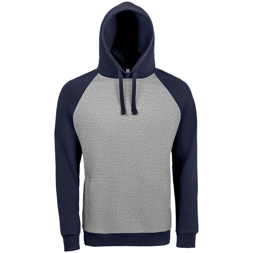 Толстовка унисекс SEATTLE серый меланж/темно-синий, размер XL цена 2017