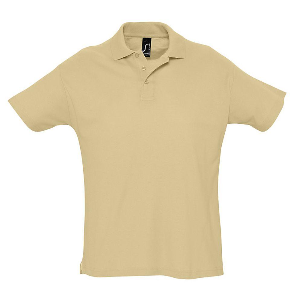 Рубашка поло мужская SUMMER 170 бежевая, размер XS платье oodji ultra цвет красный белый 14001071 13 46148 4512s размер xs 42 170