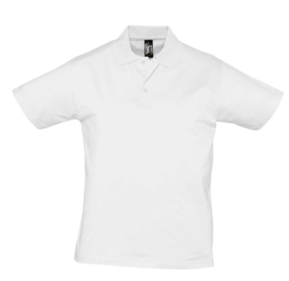 Рубашка поло мужская Prescott men 170 белая, размер S