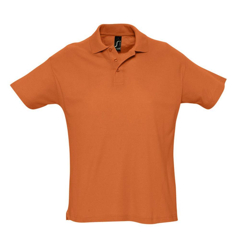 Рубашка поло мужская SUMMER 170 оранжевая, размер S