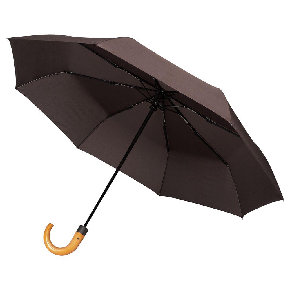 Складной зонт Unit Classic, коричневый складной зонт unit classic черный