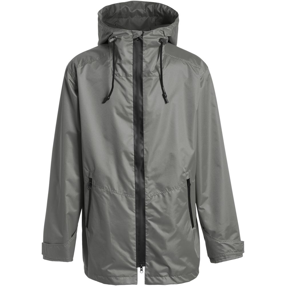 Ветровка мужская Medvind серая, размер S ветровка мужская helly hansen crew hooded jacket цвет синий 33875 597 размер s 46