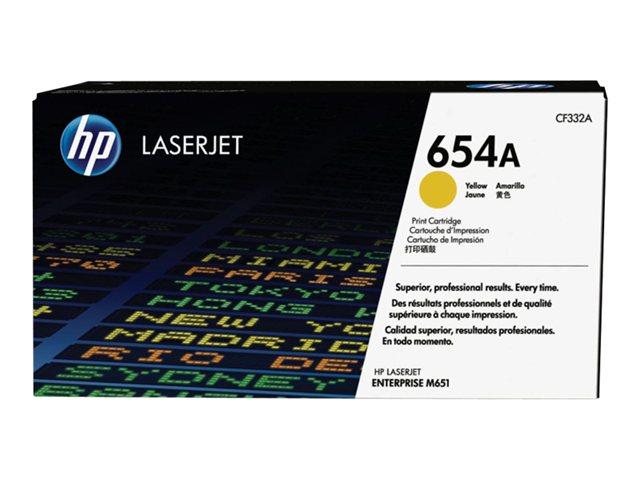 Тонер-картридж HP 654A CF332A hp 654a cyan cf331a