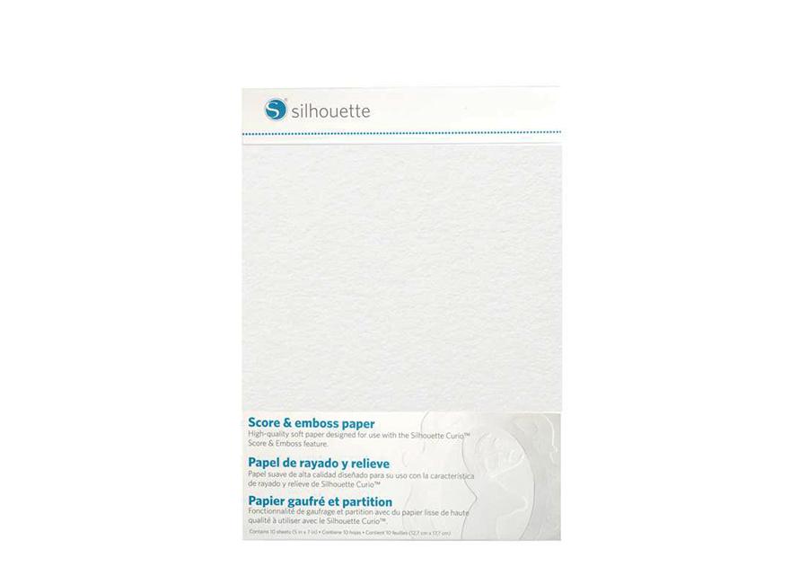 Бумага для тиснения и биговки (12.7x17.7 см, 10 листов) плоттеров Silhouette Curio
