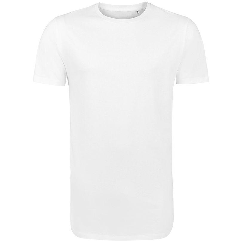 Футболка мужская удлиненная MAGNUM MEN белая, размер XS