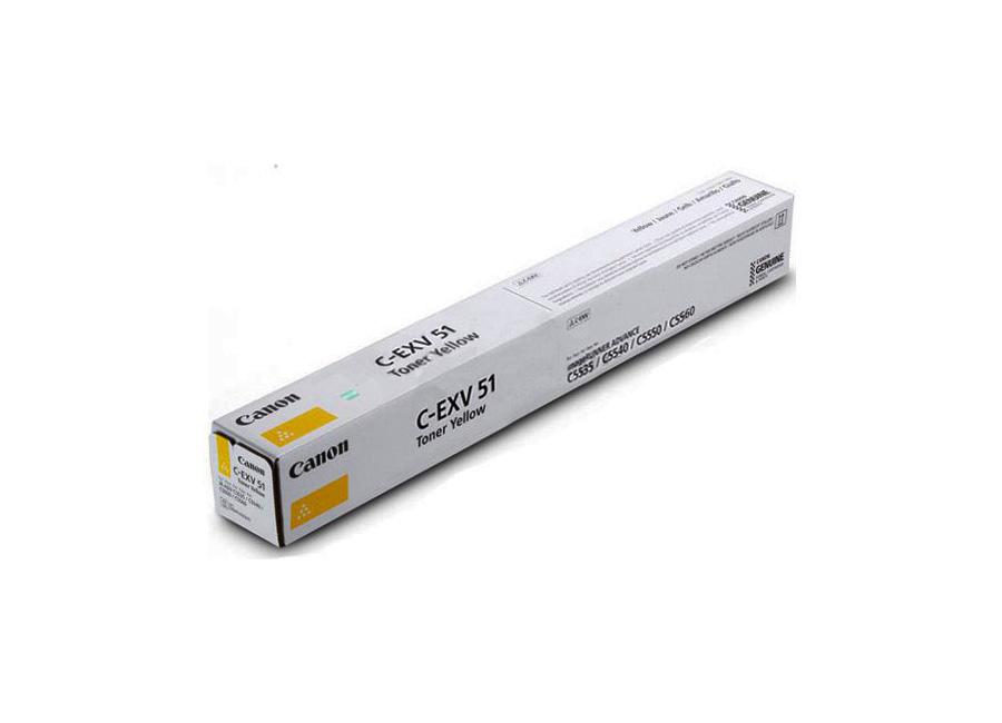 Фото - Тонер-картридж Canon C-EXV 51L Yellow (0487C002) тонер картридж c exv 17 0259b002