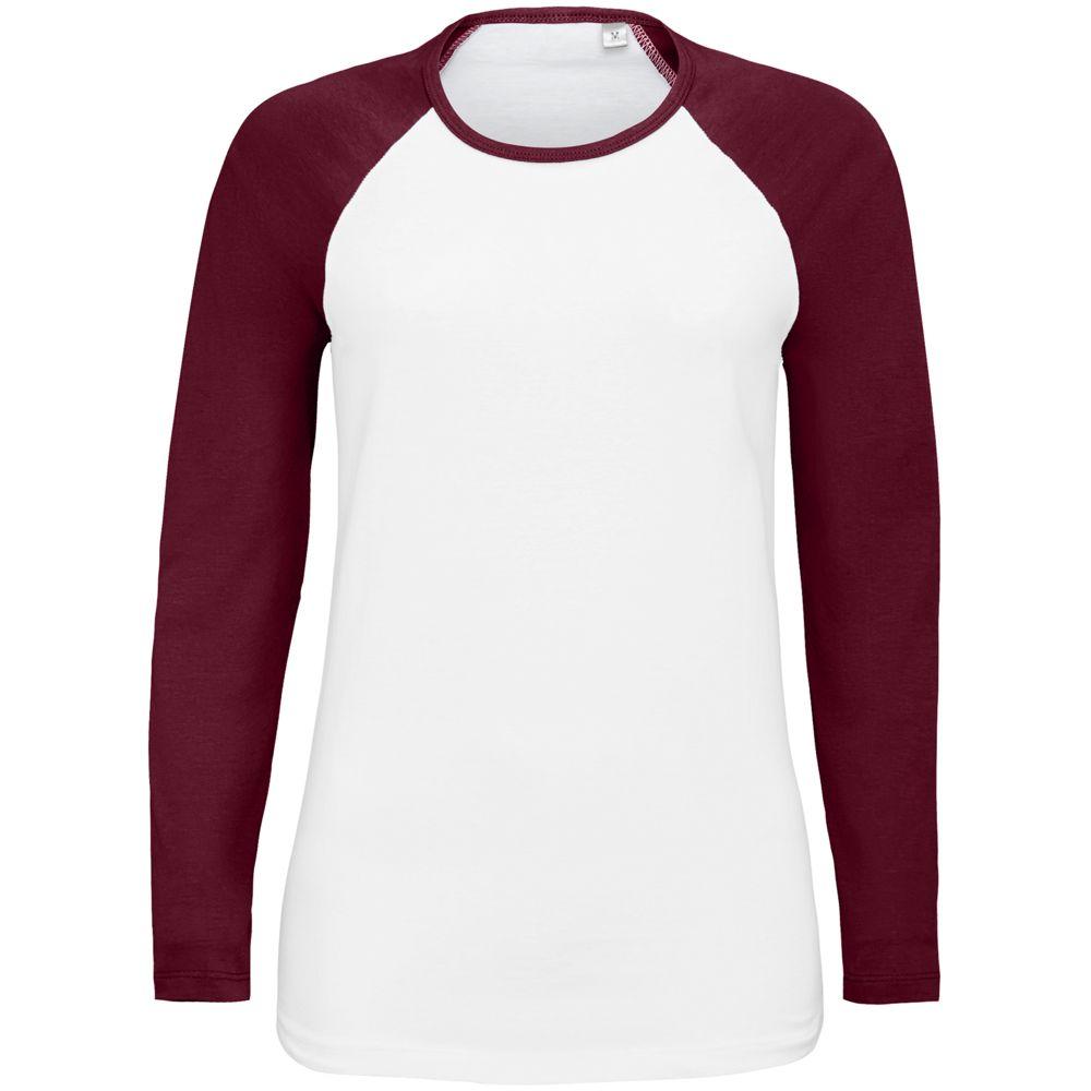 Фото - Футболка женская с длинным рукавом MILKY LSL белая с бордовым, размер L l o l футболка l o l с длинным рукавом очки бирюза 128