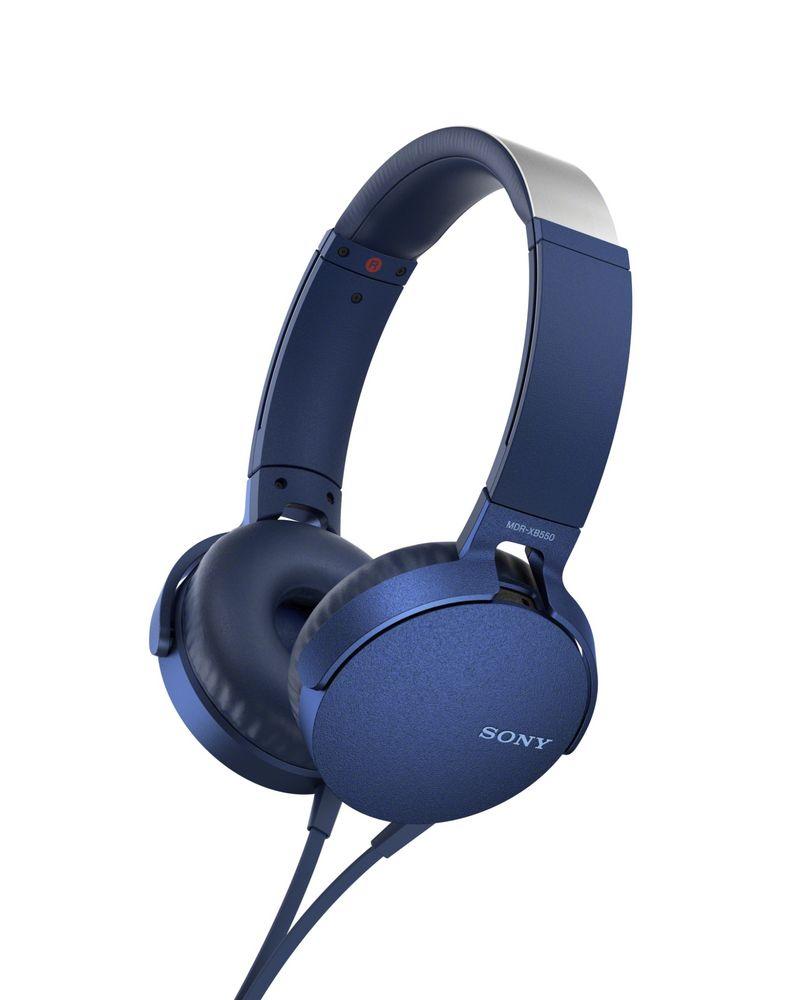 Фото - Наушники Sony XB-550, синие леггинсы domyos легинсы для кросс тренинга женские бесшовные черно синие 500