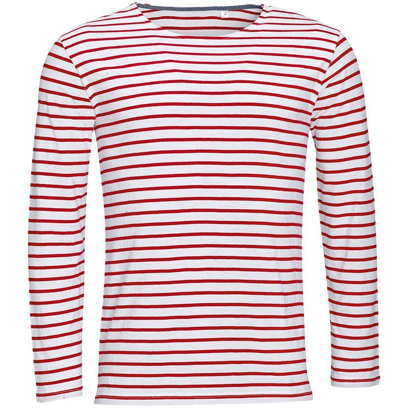 Футболка мужская MARINE MEN, белый/красный, размер XXL футболка мужская diesel цвет белый 00spvz 0caky 100 размер xxl 54
