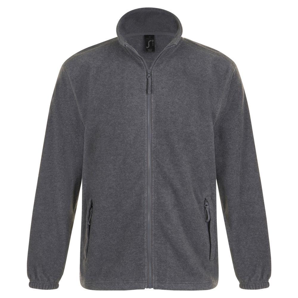 Куртка мужская North, серый меланж, размер XXL