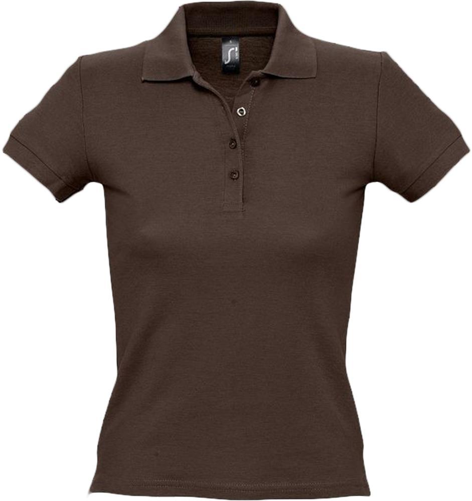 Фото - Рубашка поло женская PEOPLE 210 шоколадно-коричневая, размер XXL куртка nepal коричневая размер xxl