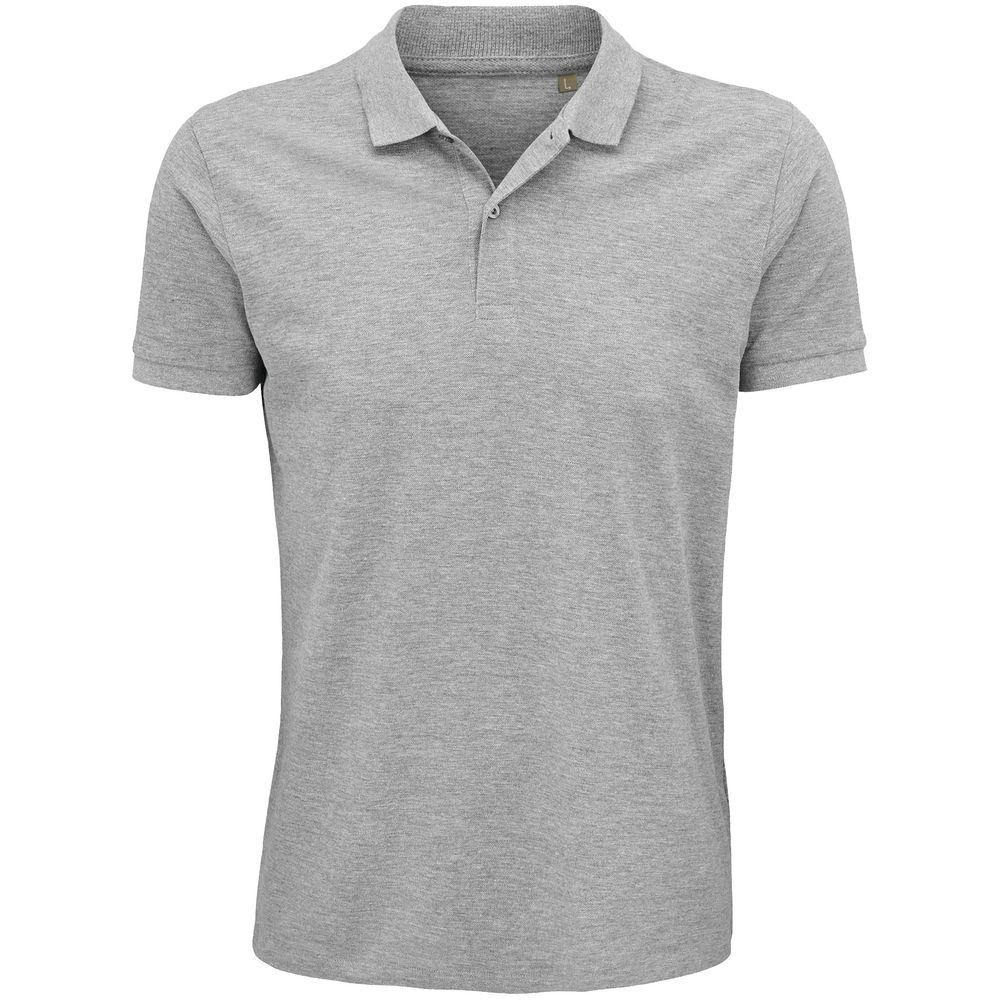 Рубашка поло мужская Planet Men, серый меланж, размер 5XL рубашка поло мужская planet men темно зеленая размер 5xl