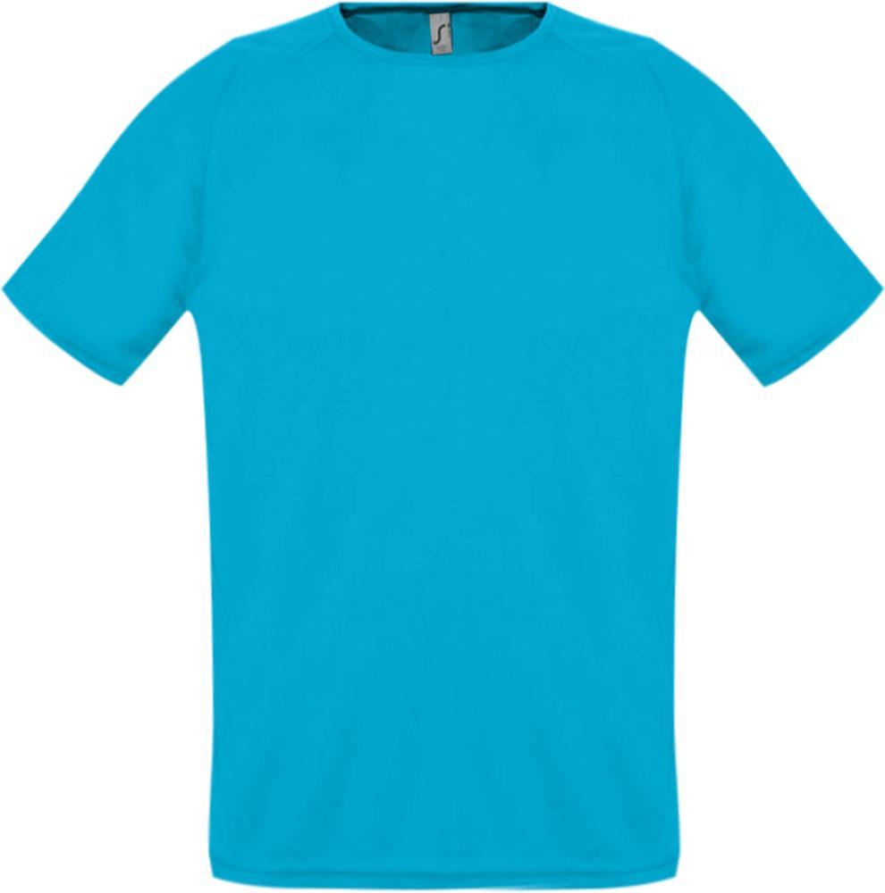 Футболка унисекс SPORTY 140 бирюзовая, размер XXL футболка для мальчиков termit размер 140
