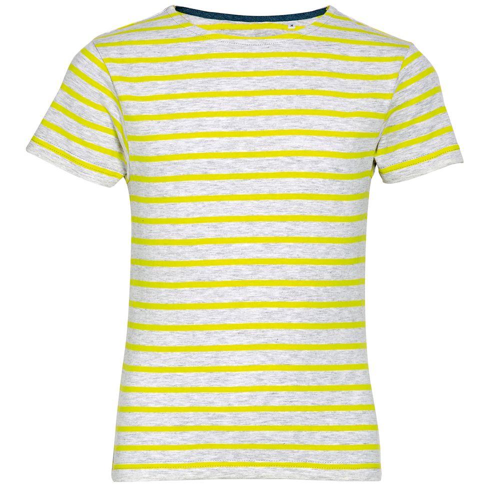 Футболка MILES KIDS серый с желтым, размер 10Y
