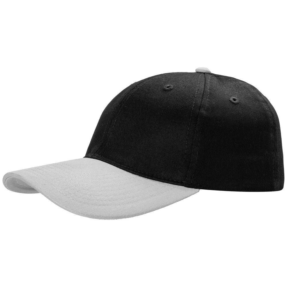 Бейсболка Ben Loyal, черная с серым