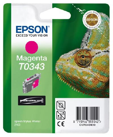 Фото - Картридж с пурпурными чернилами Epson T0343 для SP2100 (C13T03434010) картридж с голубыми чернилами epson t0342 для sp2100 c13t03424010