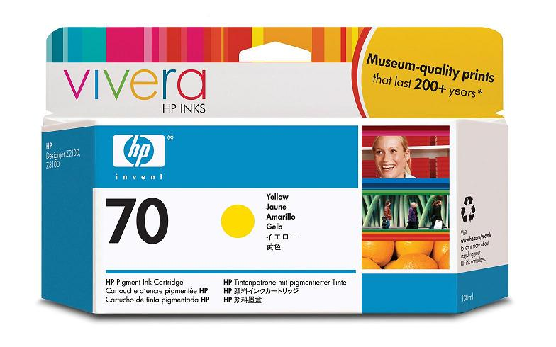 HP Vivera 70 Yellow 130 мл (C9454A) картридж струйный hp c9391ae n 88xl cyan with vivera ink